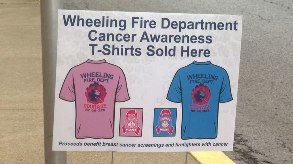 08c3f7aab9a8 Wheeling fire department selling t-shirts for breast cancer awareness | WTOV