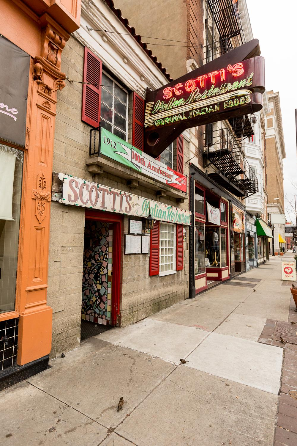 Scotti's Italian Restaurant is located in Downtown Cincinnati at 919 Vine Street (45202). / Image: Daniel Smyth Photography