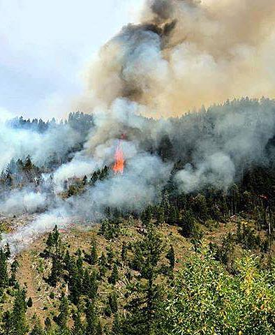 Photo courtesy of U.S. Forest ServiceThe Hendrix Fire about 7 miles southwest of Ashland was started by lightning on Sunday.