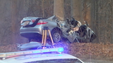 Officials: Man dies after car gets wrapped around tree on GW Parkway in Fairfax County