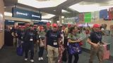 Celebratory homecoming held at PBIA for vets following Honor Flight trip
