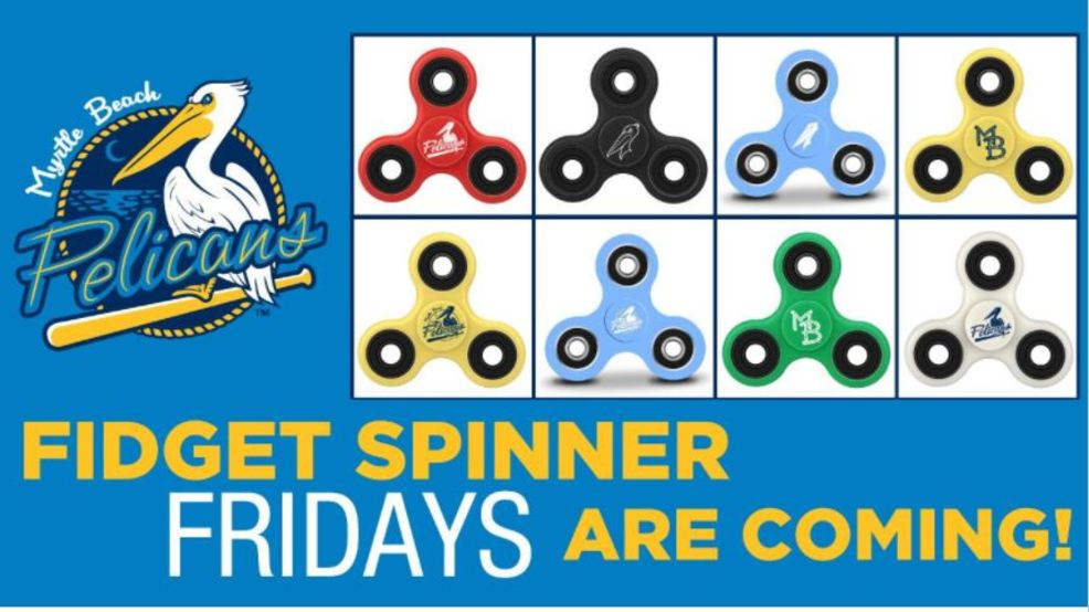 Myrtle Beach Pelicans Announce Fidget Spinner Fridays