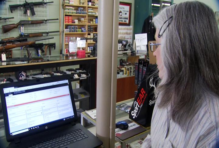 """If somebody's passed a background check, they come in here with a permit to purchase a firearm or they pass the NICS check, it's out of our hands,"" said Debra Jackson, owner of Fruitful Seasons Pistol Packing in Henderson County. (Photo Credit: WLOS Staff)"