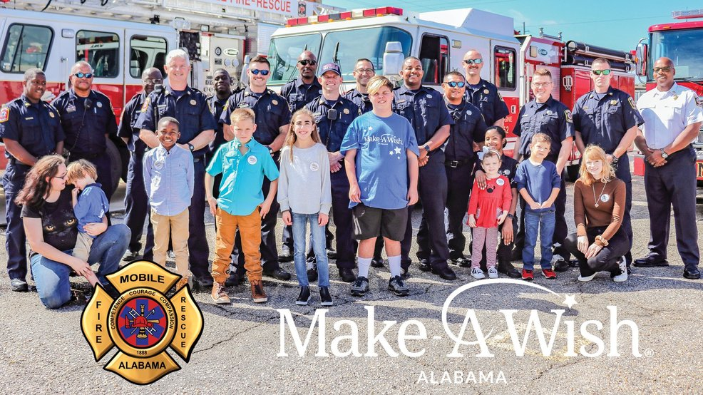 (MFRD / Make-A-Wish Alabama) Mobile Fire-Rescue & Make-A-Wish Alabama collaborate for calendar fundraiser