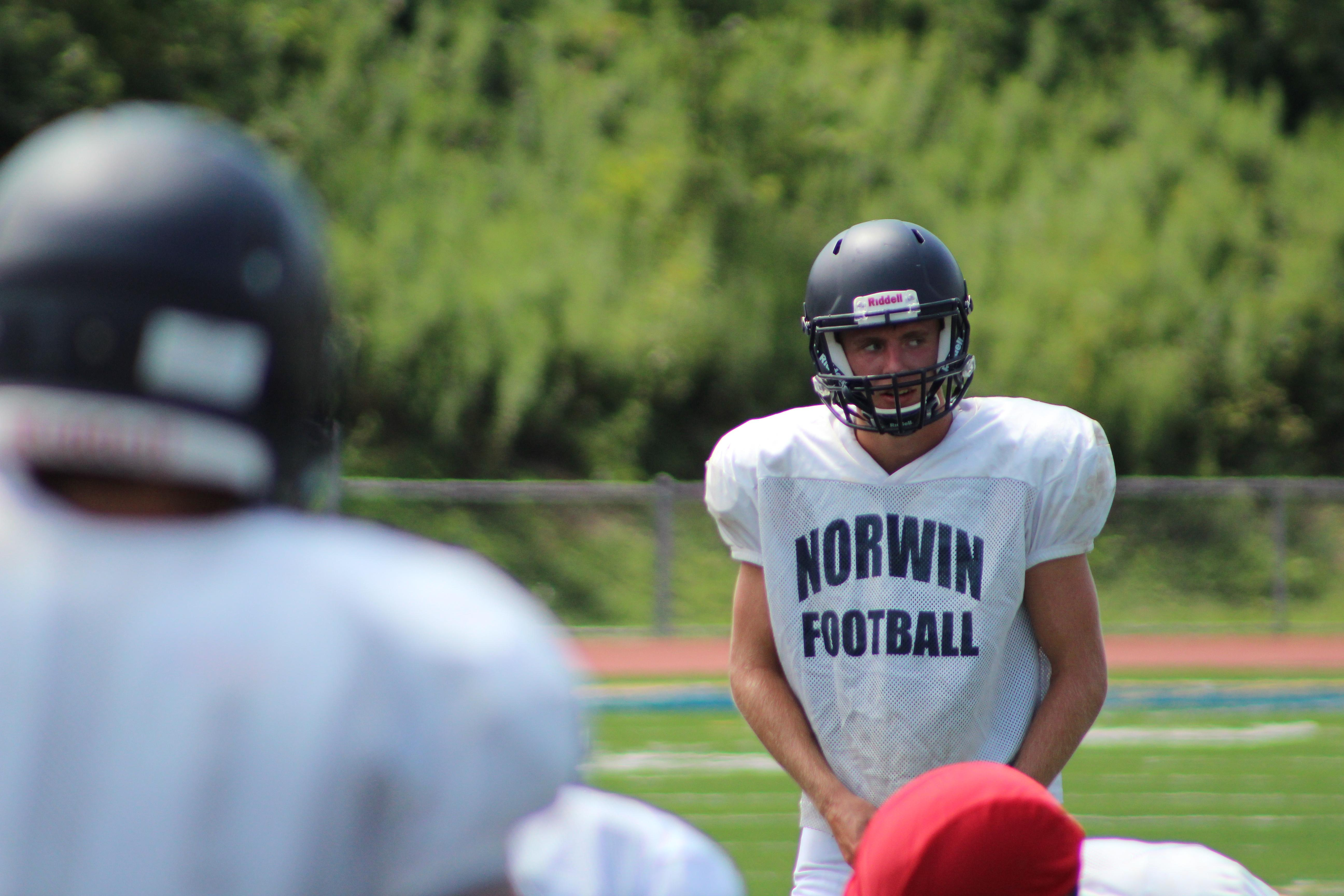 "Norwin senior quarterback Jack Salopek reads the defense during an August practice.{ }Watch the AHN Friday Night Rivals powered by IGS Energy ""Kickoff Special"" Aug. 23 at 7 p.m. on 22 the Point."