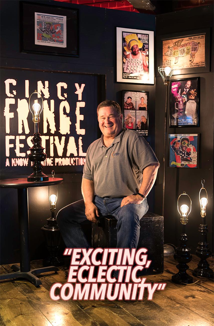 Joe Mock, patron / Cincy Fringe Fest runs May 29 thru June 10 at the Know Theatre in OTR. For more information, visit CincyFringe.com. / Image: Phil Armstrong, Cincinnati Refined // Published: 5.28.18
