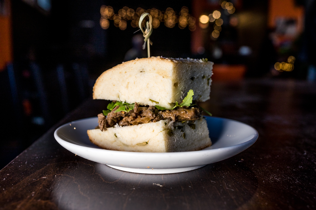 Lamb cumin sandwich served on Pang bread / Image: Catherine Viox // Published: 1.8.20