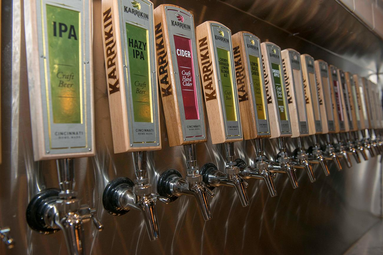 Karrikin offers a wide variety of beers and ciders on tap. / Image: Joe Simon // Published: 1.9.19