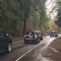 Landslide disrupts Hwy 126 east of Vida