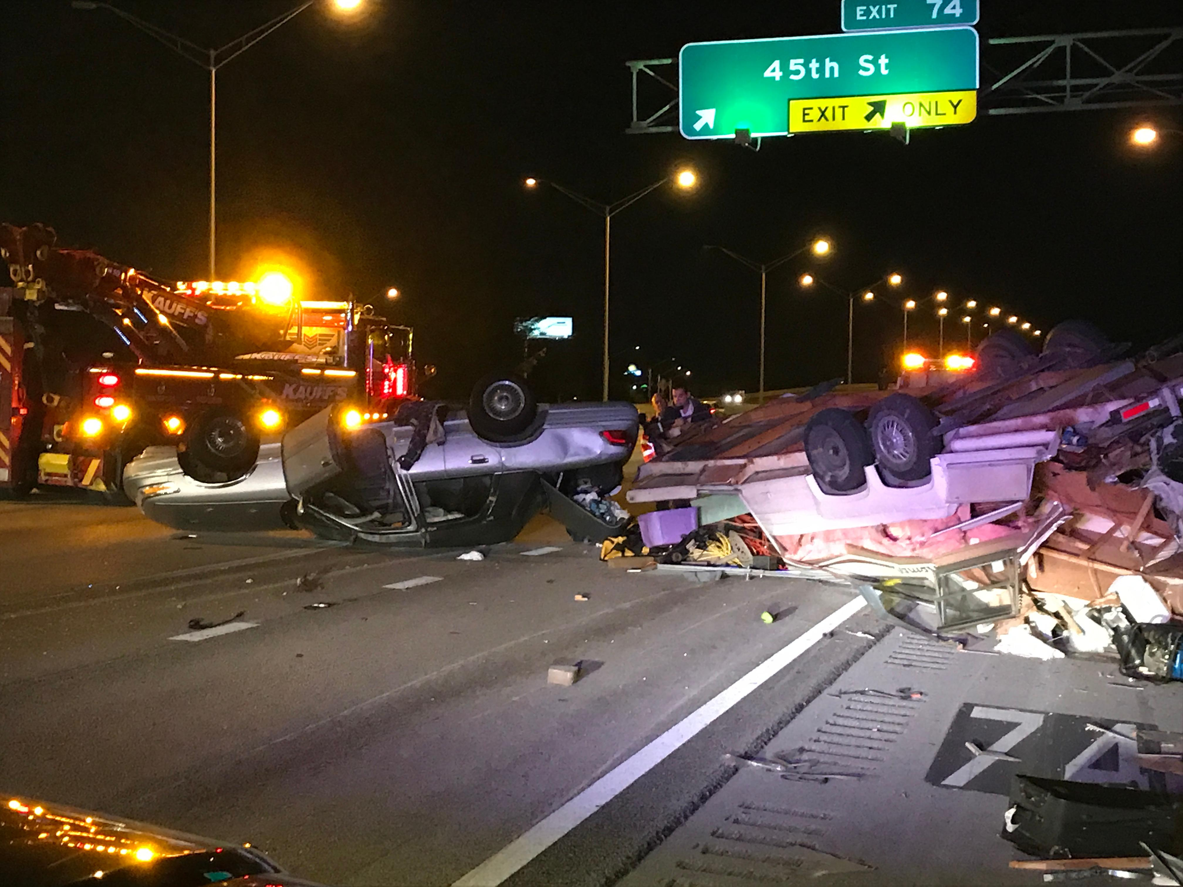 Rollover crash on I-95 sends 1 person to the hospital. (WPEC)<p></p>
