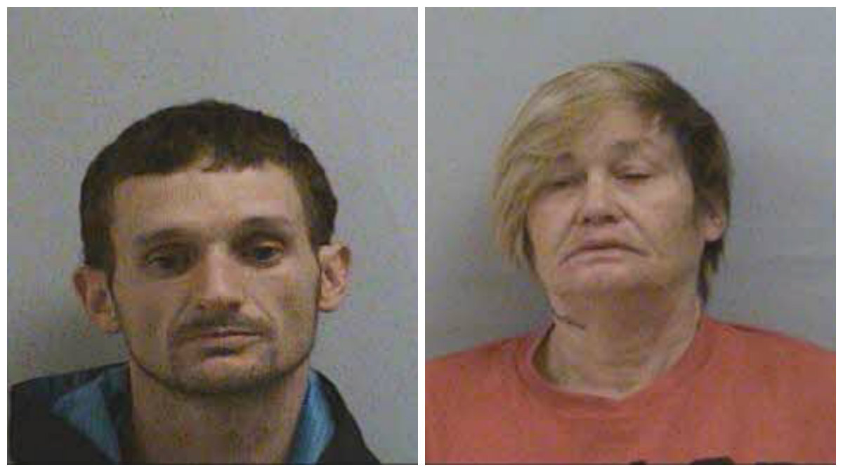 "Joshua Michael ""Bubba"" Lipe, 37, and Allison Smith, 51, both of McDowell County, are each being held on a $5 million bond. (Photos: McDowell County Sheriff's Office)<p></p>"
