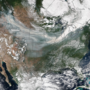 Smoke from fires 'swept by winds from west to east across the continental United States'