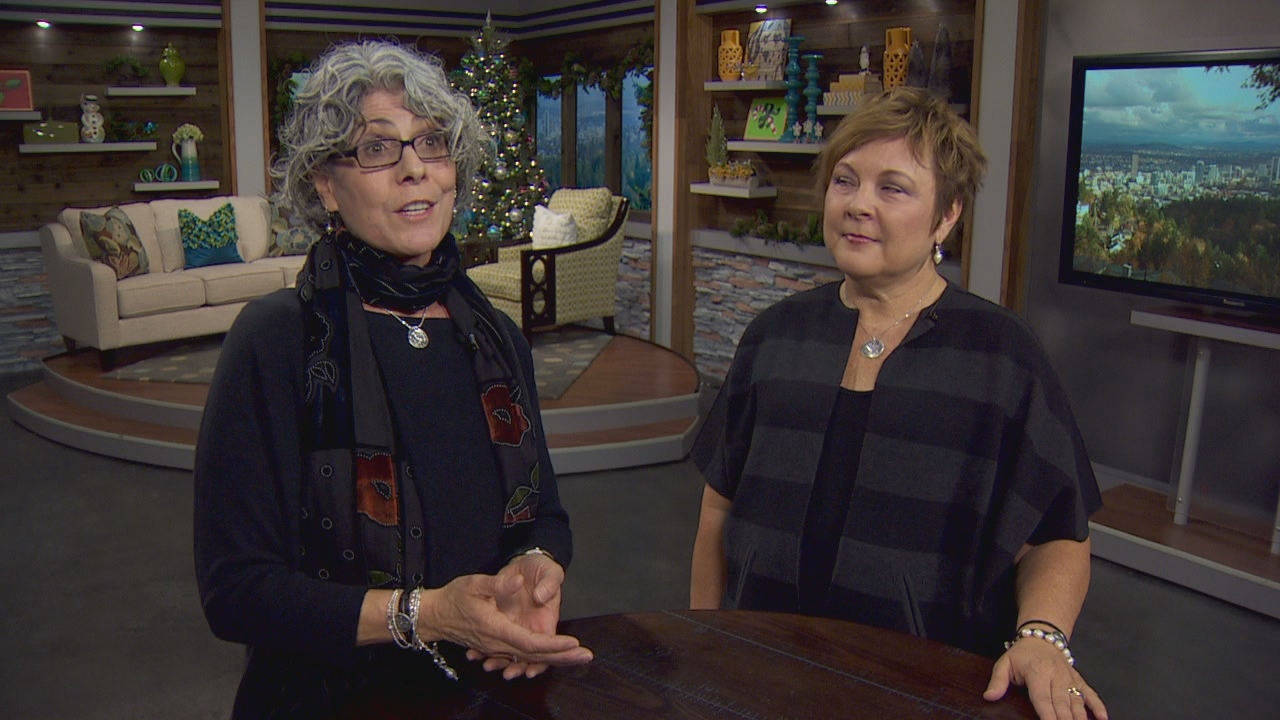 Two Portland women, Sandra Lewis, left, and Sue Parham, right, are spearheading a drive to encourage and support more women to run for elected office. (KATU)<p></p>