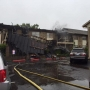 Fire sparks at metro apartment during severe storms