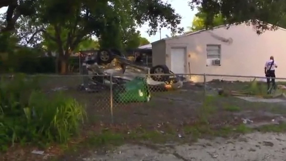 driver crashes into home in Miami pic.JPG