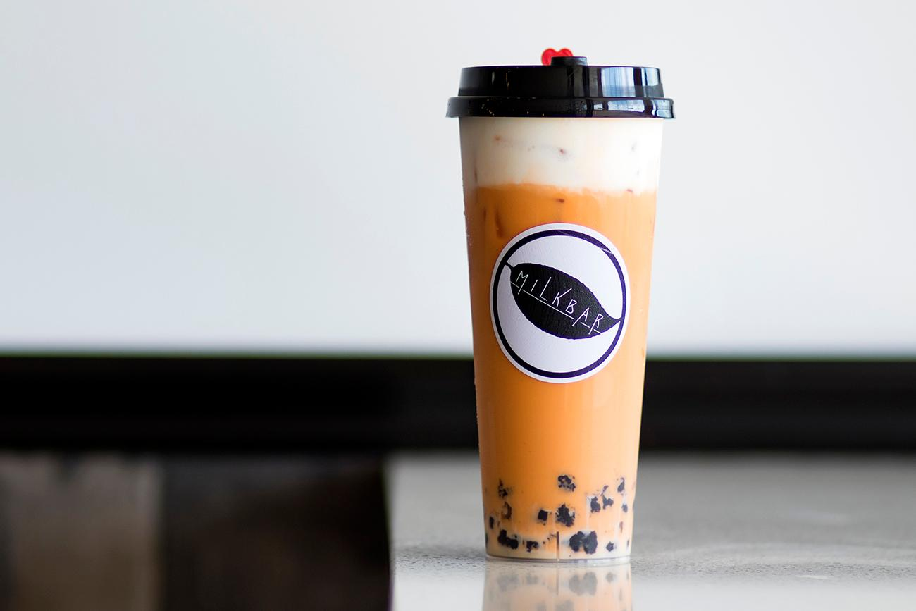 <p>Thai tea with milk cap{&nbsp;}/ Image: Allison McAdams // Published: 10.11.18 </p>