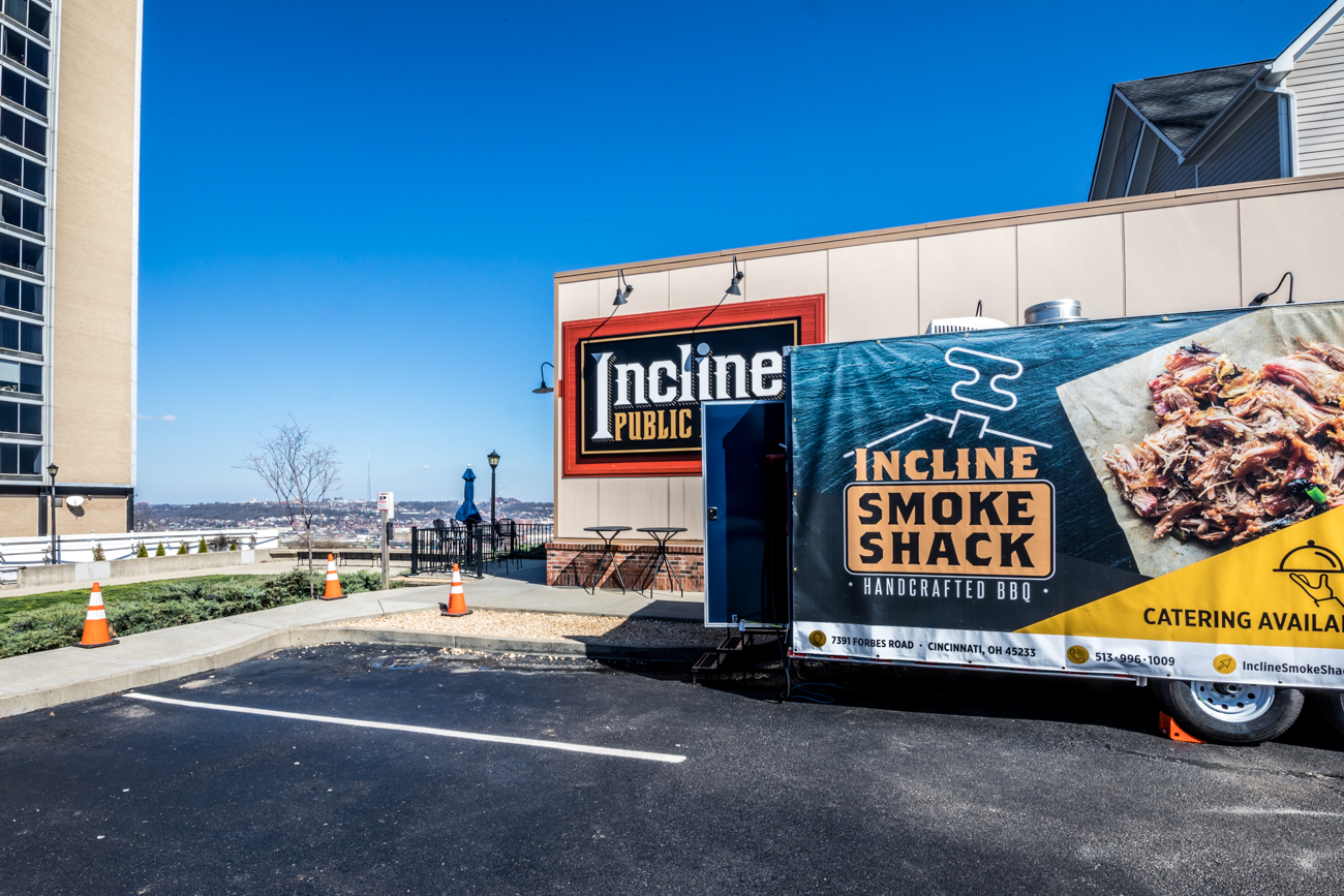 Incline Smoke Shack has temporarily moved from their regular location at 13 Below Brewery in Salyer Park to the parking lot of their friends at Incline Public House. They're offering handcrafted BBQ, wings, sandwiches, savory sides, and catered family meals through carryout that's available to order online. Their current hours of operation are Sunday through Thursday from 4 to 7 PM and Friday and Saturday from 4 to 8 PM. Delivery is available through DoorDash. Follow them on Facebook to keep up with their Saturday Feature specials and changes to the limited menu. / WEBSITE: inclinesmokeshack.com / ADDRESS: 2601 W 8th Street (45204) / Image: Catherine Viox // Published: 4.13.20