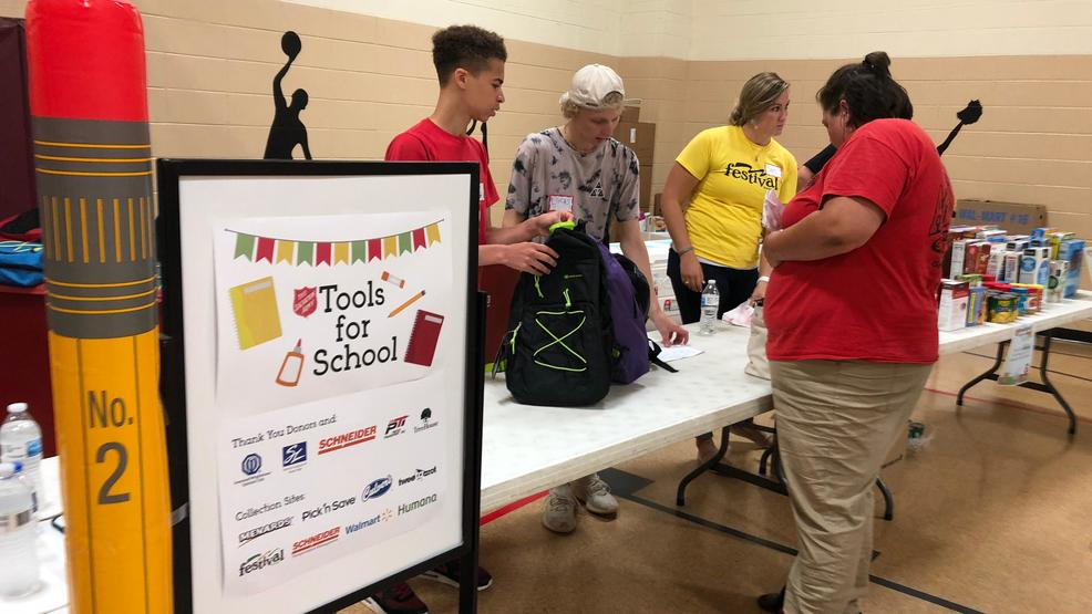 SALVATION ARMY SCHOOL SUPPLY GIVEAWAY 2019