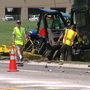 Three hurt in accident involving semi, INDOT vehicle and landscaping vehicle