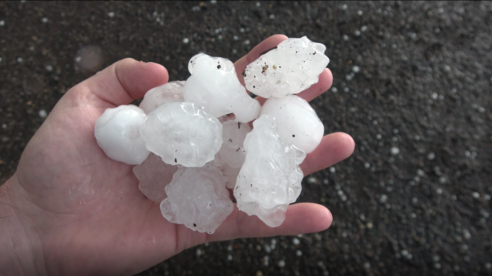 Inside the Storm: Golf ball sized hail falls in Kansas as supercell moves through plains