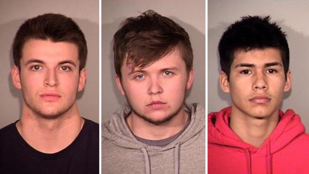 Blake Hagin, Gordan McAuliff and Sevey Price were arrested along with a juvenile in connection with a drive-by shooting in Broken Arrow Friday morning. (BAPD)