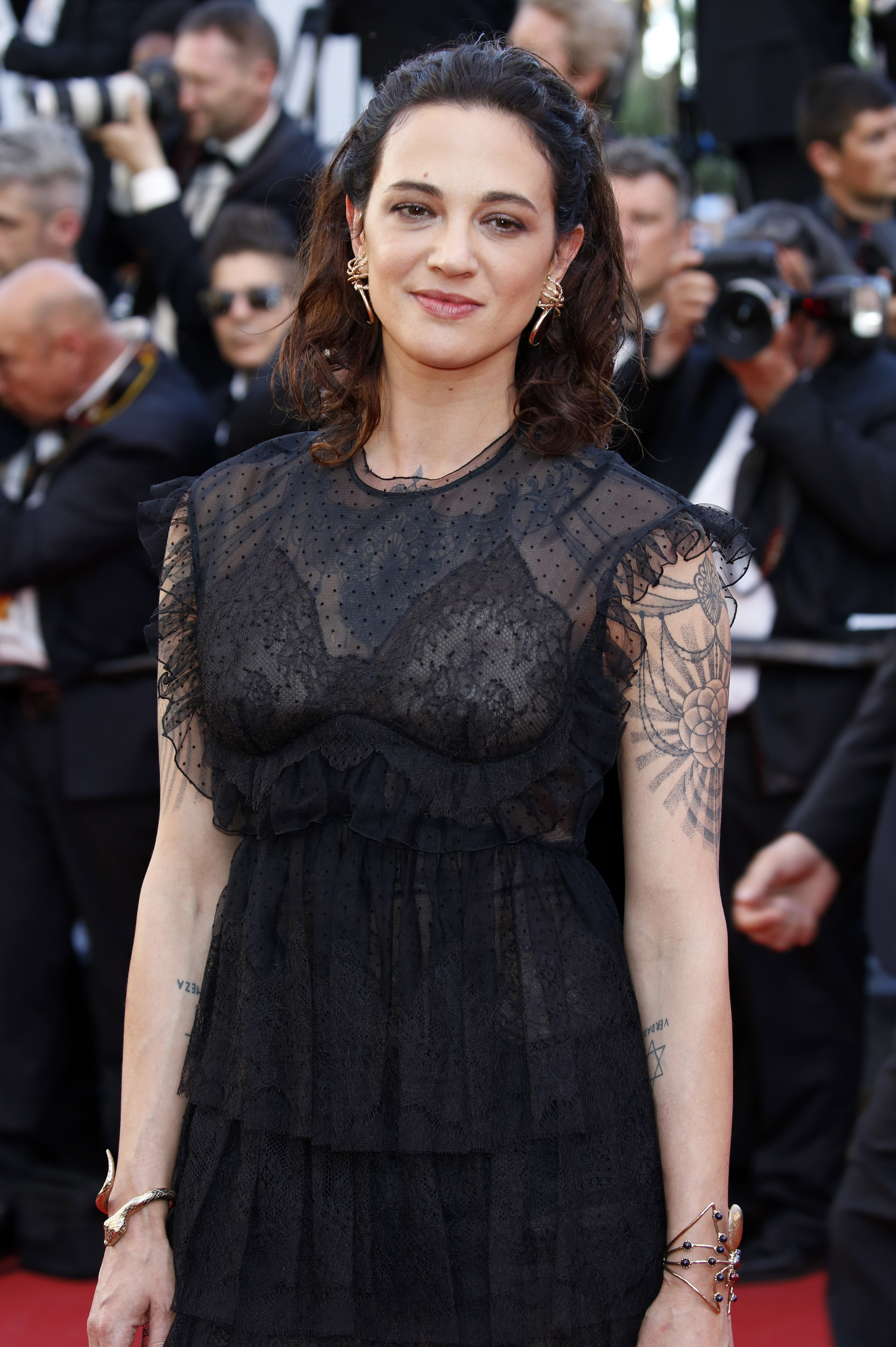 Asia Argento at the 70th Cannes Film Festival - 'Ismael's Ghosts (Les Fantomes d'Ismael)' - Premiere. When: 17 May 2017 Credit: Dave Bedrosian/Future Image/WENN.com