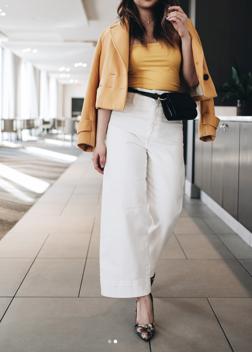 Also, the fanny pack is back with a vengeance and it's a really sleek look in leather. (Image via @district.vy)
