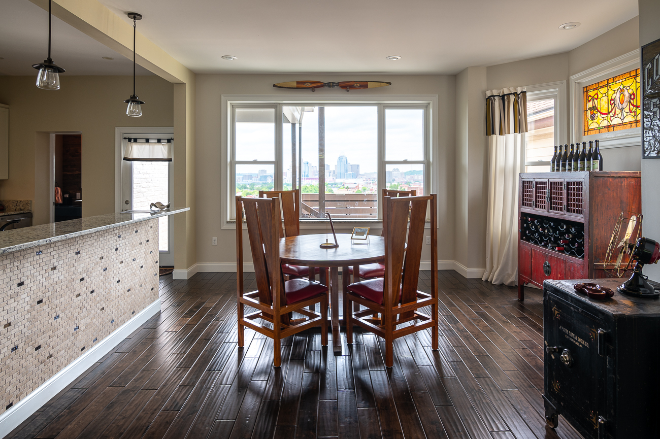 Every meal at the dining table is complemented by a beautiful northerly view. / Image: Phil Armstrong, Cincinnati Refined // Published: 5.31.19