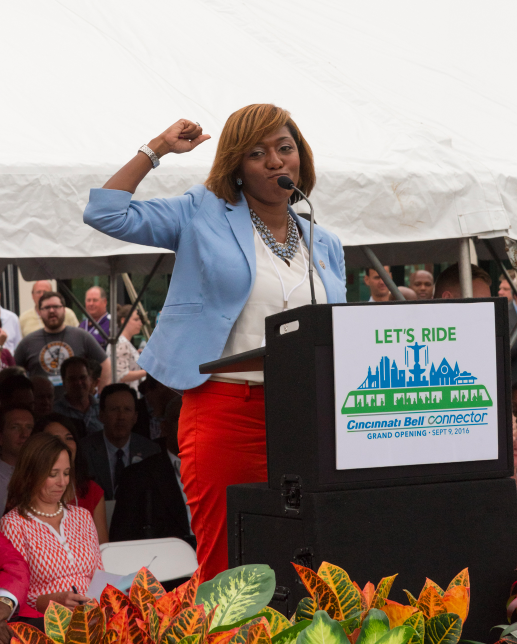 Peeps: Yvette Simpson, Cincinnati City Council Member / Event: Cincinnati Bell Connector Officially Opens (9.9.16) / Image: Phil Armstrong, Cincinnati Refined