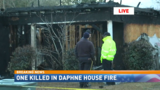 House fire in Daphne kills one person, leaves one firefighter injured