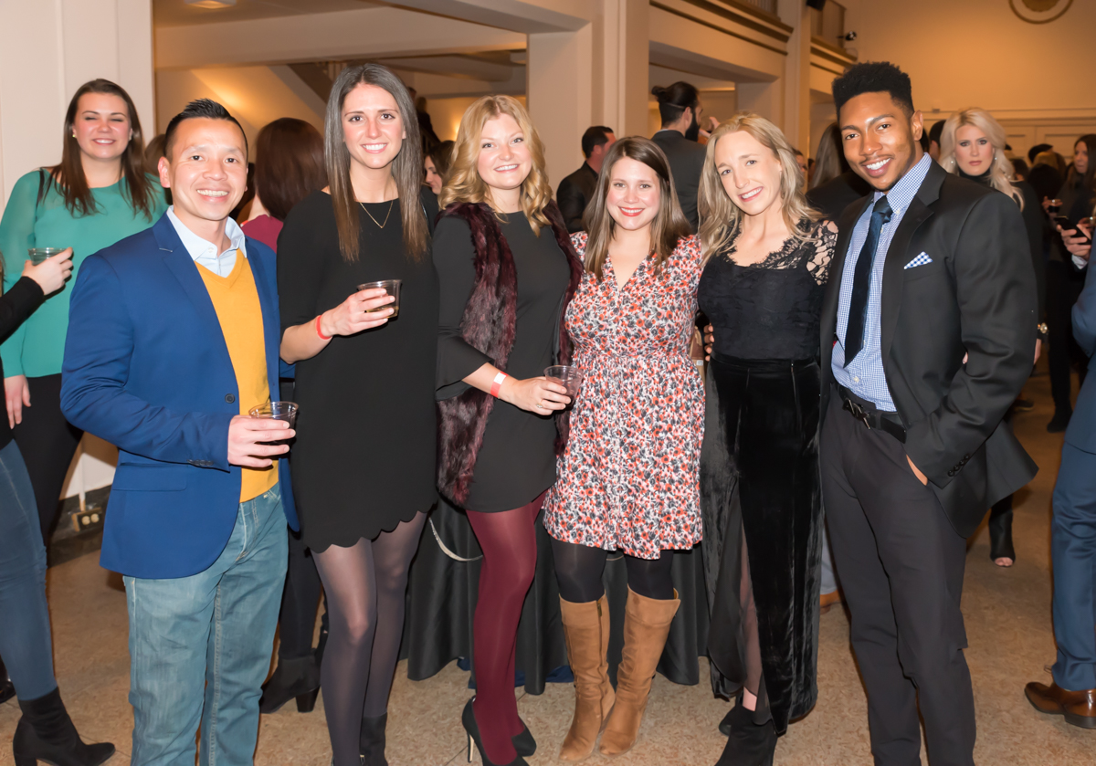 Pictured: Tony Fung, Chelsea Sprong, Kelsey Keiner, Katie Dennis, Kelsie Shannon, and Xavier Ligon / Event: Bacchanalian Society Winter Gathering (Feb. 8) / Image: Sherry Lachelle Photography // Published: 3.3.18