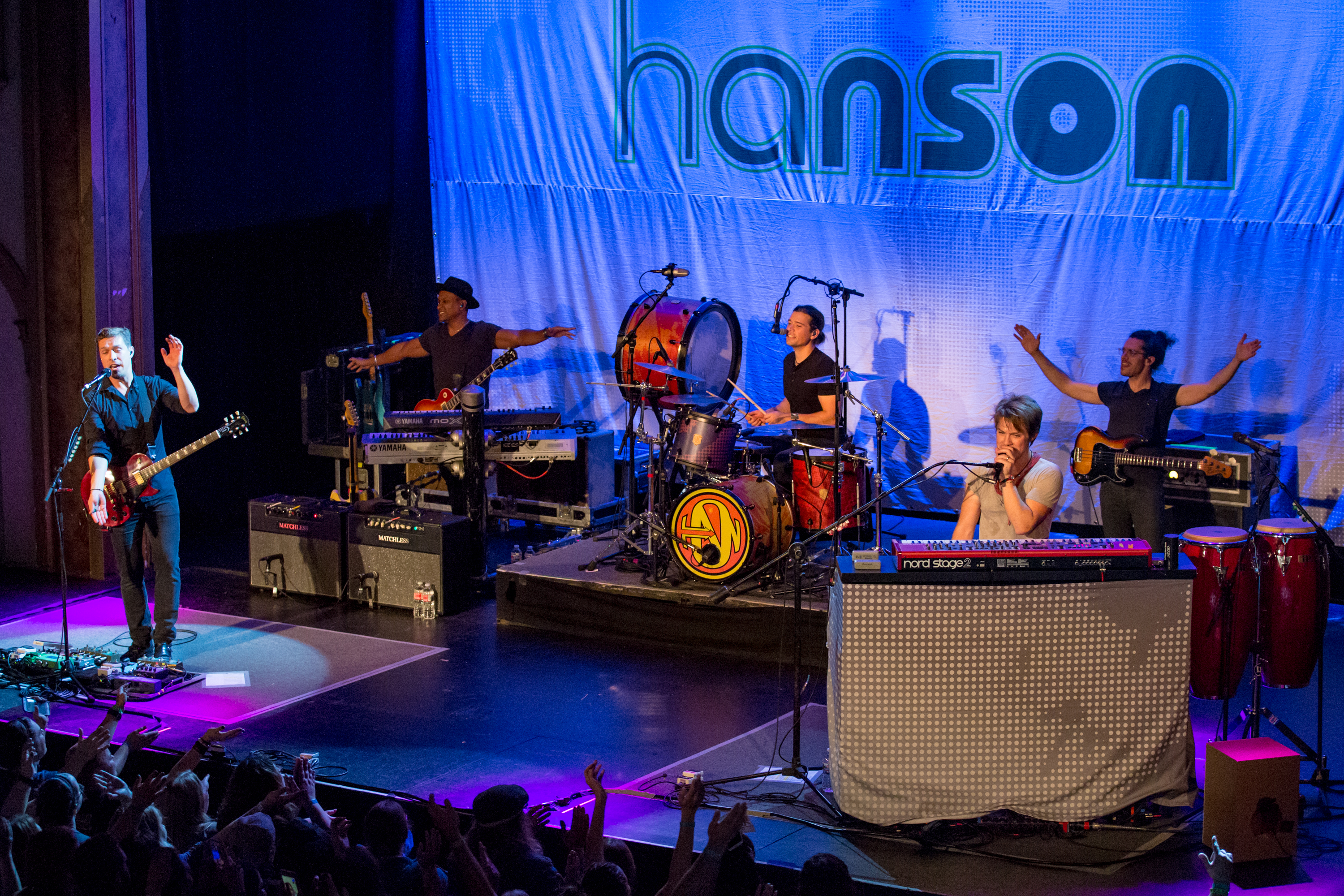 Fans were in for an mmbopping good time as Hanson swung by Neptune Theater Tuesday night (October 17, 2017) as part of their 25th Anniversary Tour. (Image: Sunita Martini / Seattle Refined)