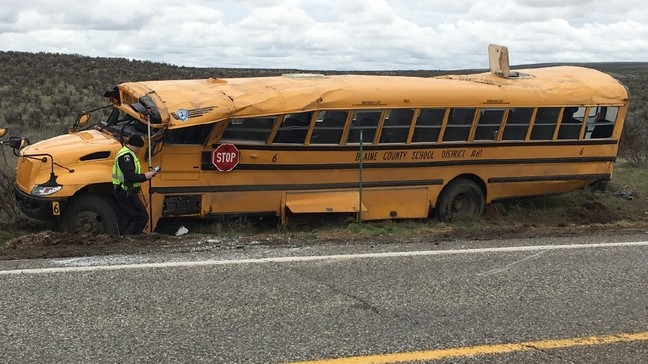 Idaho school bus driver charged following crash that injured 12 students