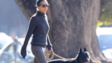 Gallery: Celebrity pooches go out for a stroll