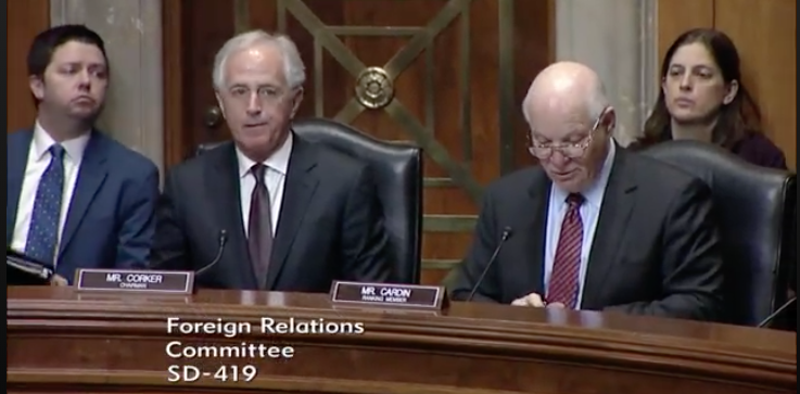 Senator Corker and Cardin / Photo: Senate Foreign Relations Committee<p></p>