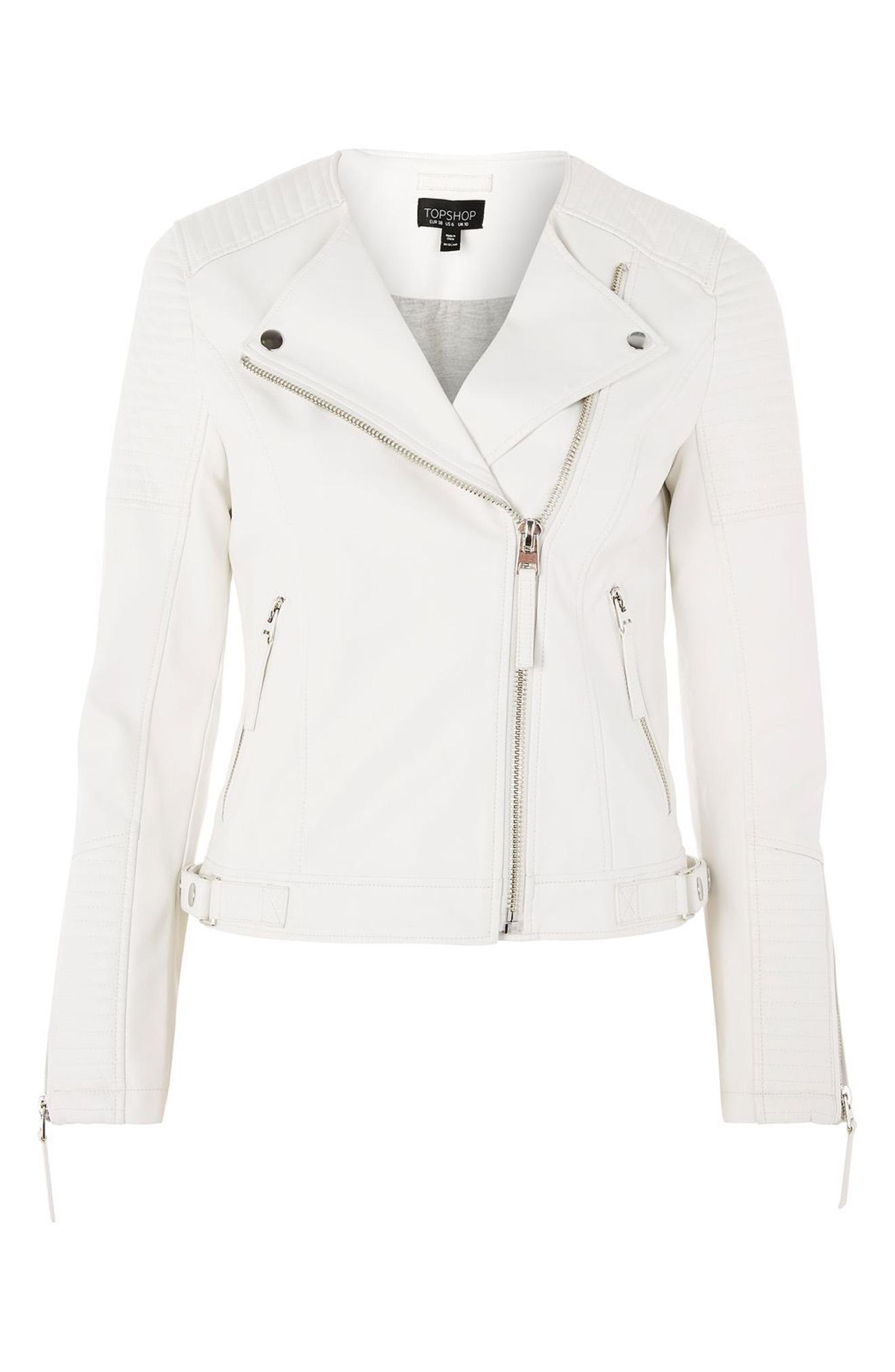 Topshop Luna Faux Leather Biker Jacket from Nordstrom // Price: $46.99-$95 // (Photo courtesy: Nordstrom/ Nordstrom.com)<p></p>
