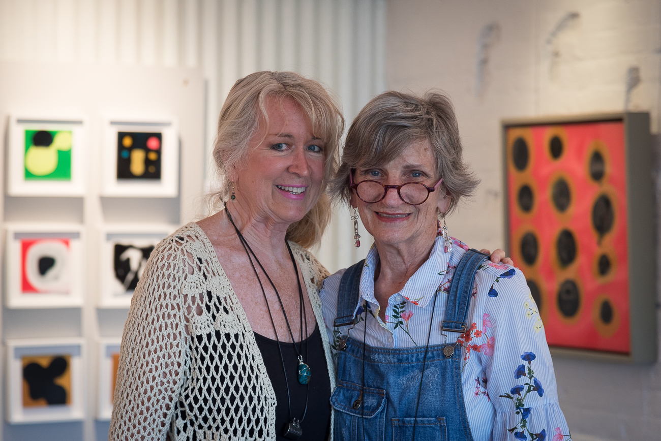 Ellen Everman Deaton and Suzanna Terrill, assistant and curator of 124 West Pike Street Gallery / Image: Phil Armstrong, Cincinnati Refined // Published: 6.8.18