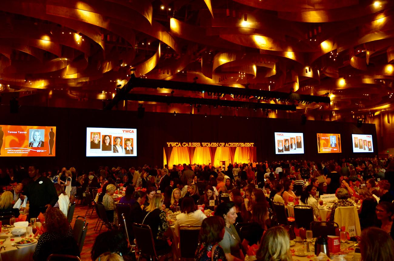 The YWCA's Career Women of Achievement Luncheon was held on Wednesday, May 9 at the Convention Center with keynote speaker Ashley Judd. The mission of the YWCA is to eliminate racism and empower women. / Image: Leah Zipperstein, Cincinnati Refined // Published: 5.10.18