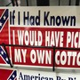 Man wants sticker referencing picking cotton, Confederate flag, taken off Utah store rack
