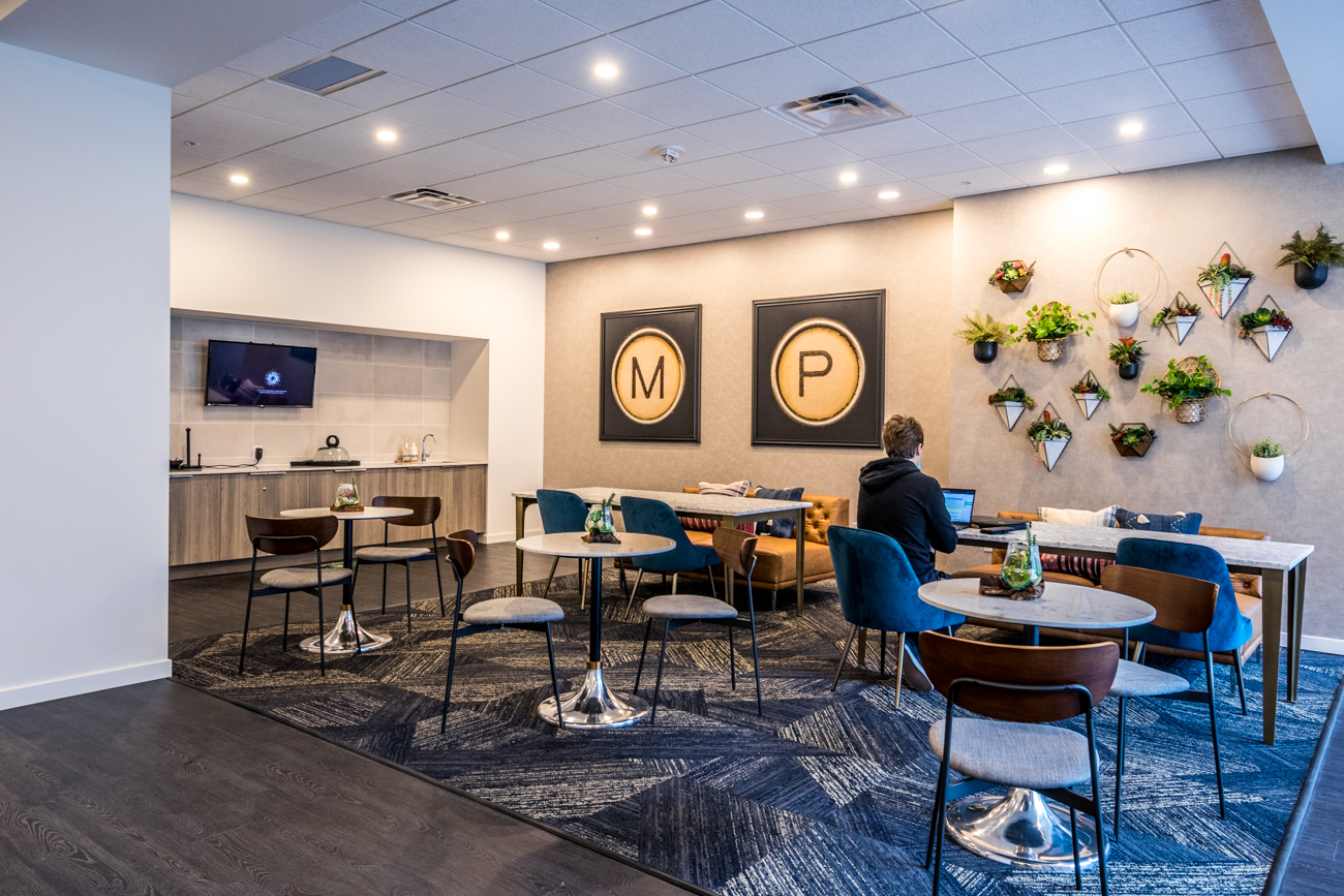The complex also has communal areas for residents to socialize as well as rent for private parties such as The Club, the 13th Floor Club Lounge, and a guest suite that's available for nightly rental. They also host monthly resident social hours. / Image: Catherine Viox // Published: 7.7.20
