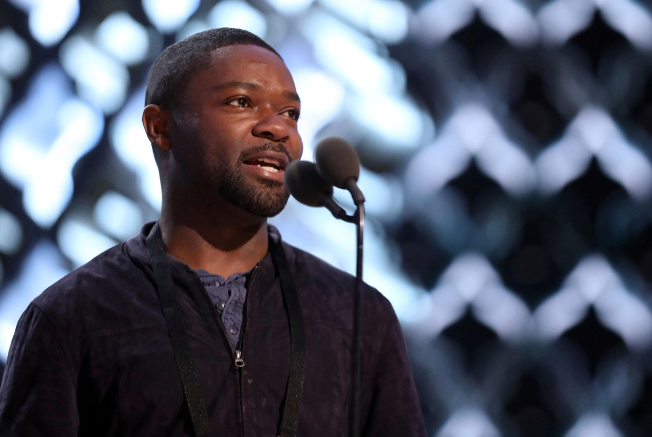 David Oyelowo appears during a rehearsal for the 89th Academy Awards on Saturday, Feb. 25, 2017. The Academy Awards will be held at the Dolby Theatre on Sunday. (Photo by Matt Sayles/Invision/AP)