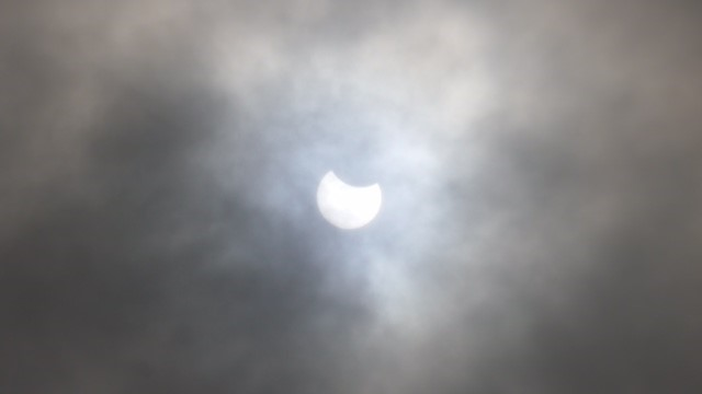 The view from the Don Harrington Discovery Center during the eclipse on August 21, 2017. (KVII)