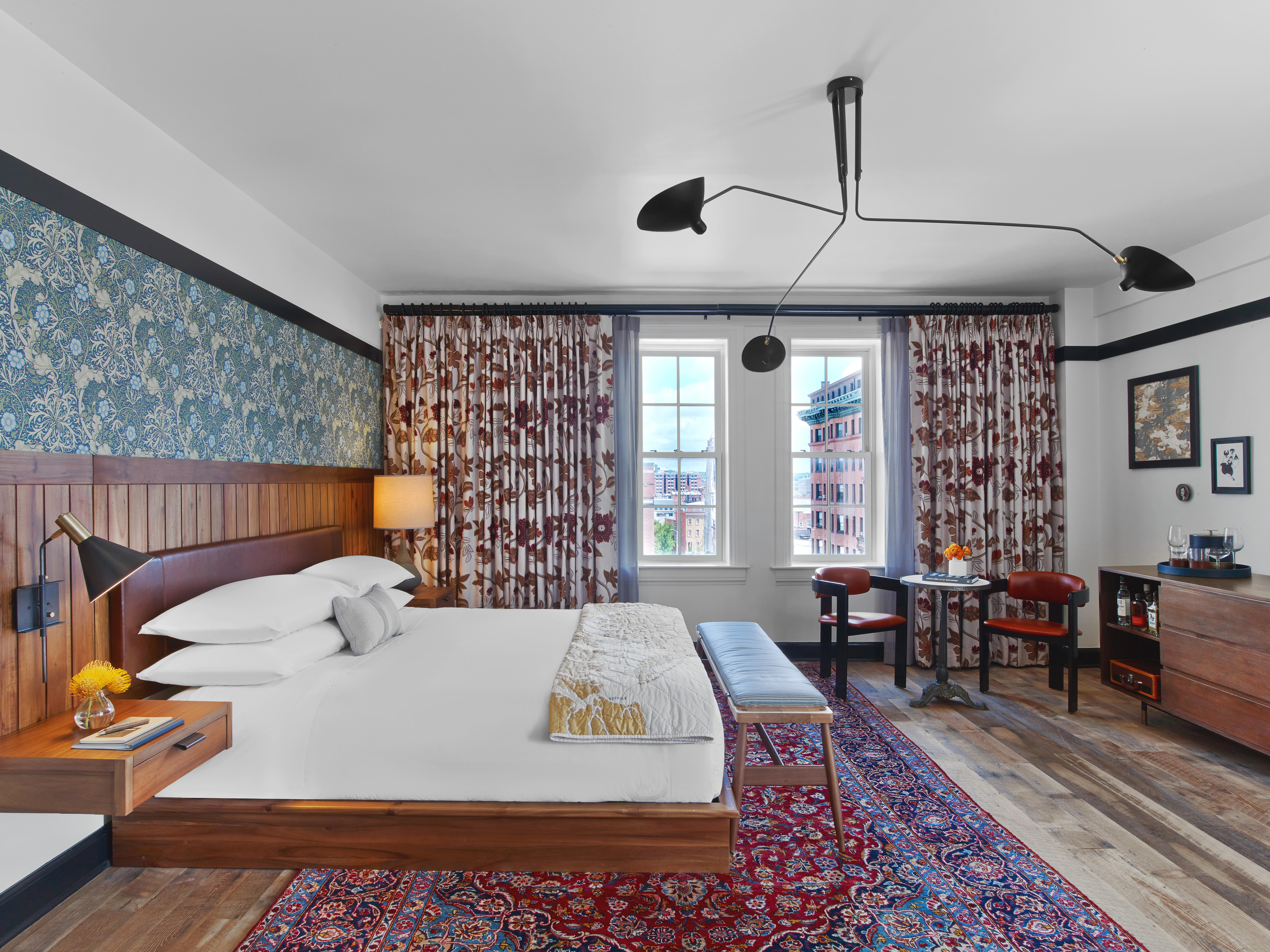 A premium junior suite at Hotel Revival shows off the delightfully quirky decor.{ }(Image: Courtesy Hotel Revival)