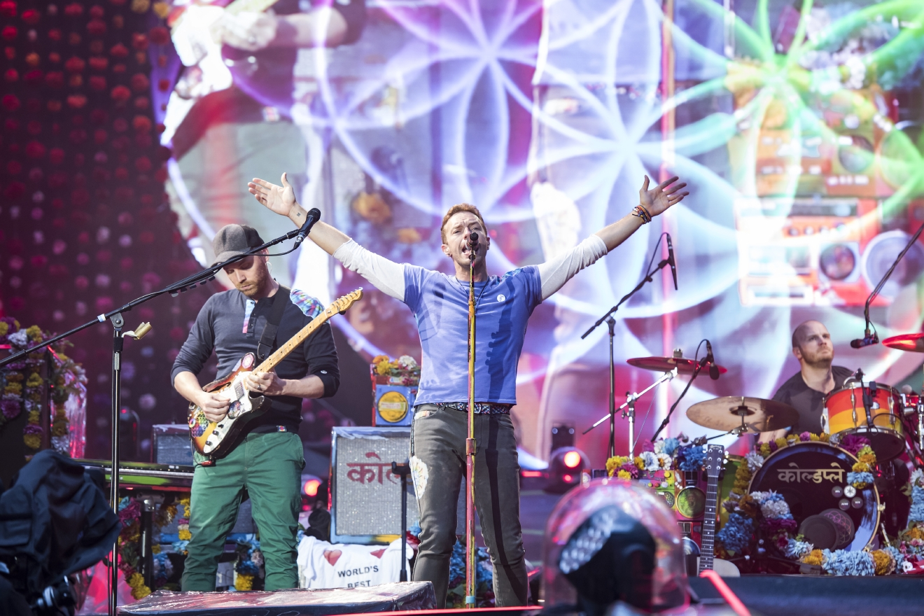 "Coldplay will tackle the Redskins as they take over FedExField on August 6 for their ""A Head Full of Dreams Tour."" (Image: Carsten Windhorst/WENN.com)"