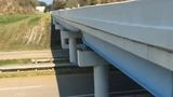 Overpass significantly damaged by accident on U.S. 22