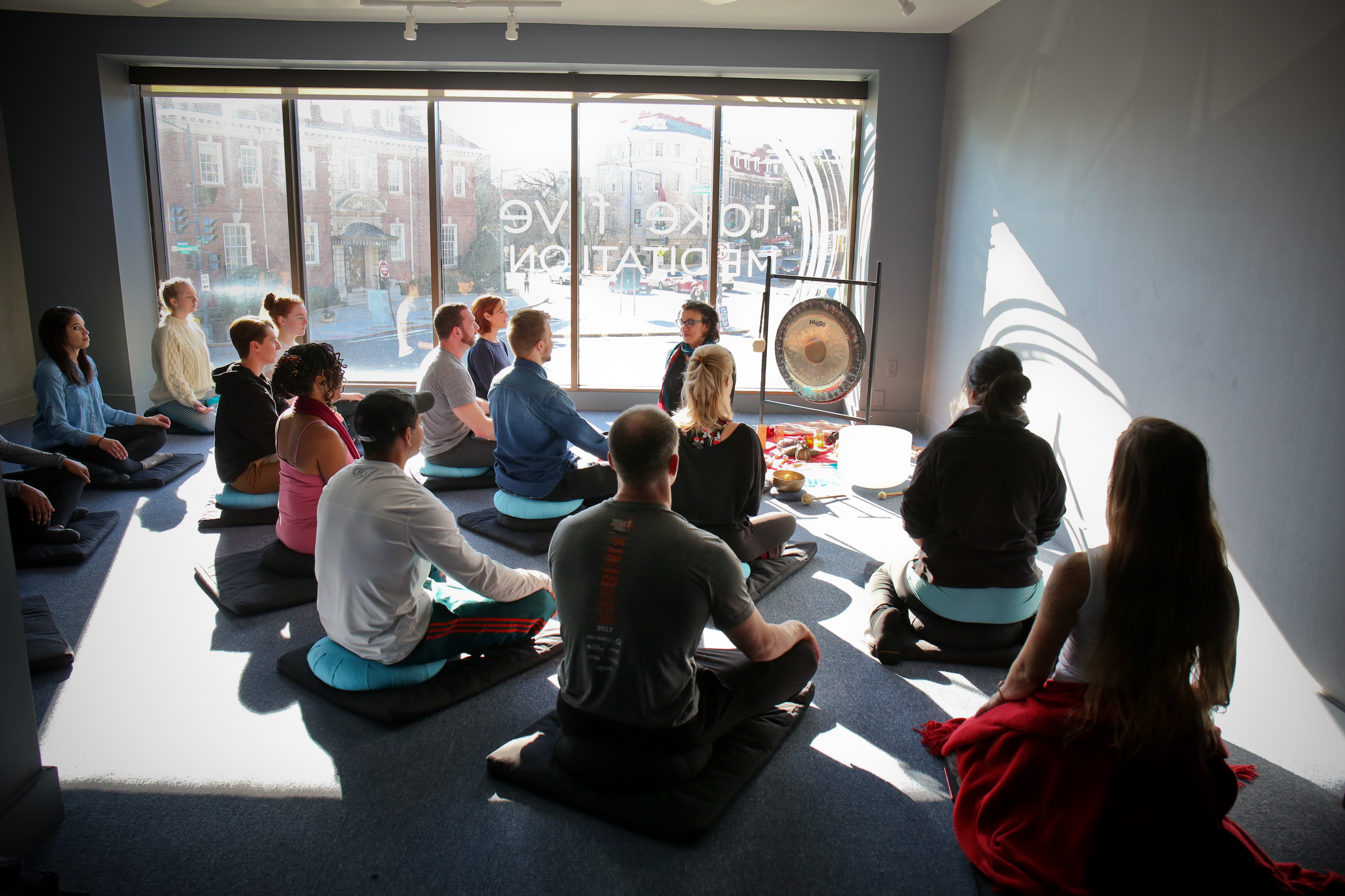 Take Five offers 30-minute meditation classes, 45-minute meditation classes for more advanced students and a 90-minute mind/body connection yoga class. (Image: Ralph Alswang)