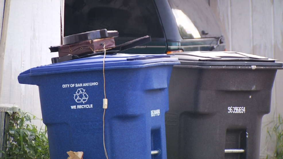 Dumping garbage into recycling bins could result in fines. Dumping garbage into recycling bins could result in fines   KABB