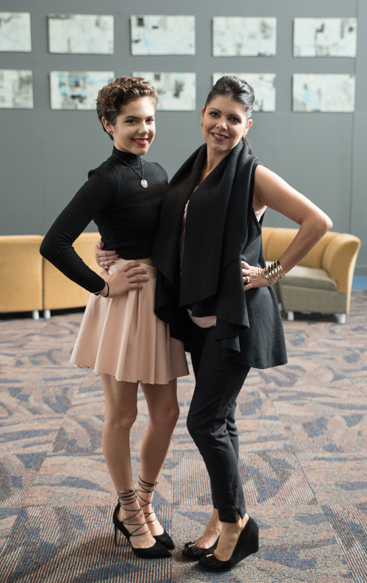 Calysta Bevier (Power of Pink Award Recipient) with her Mother, Missy Bevier / Image: Sherry Lachelle Photography