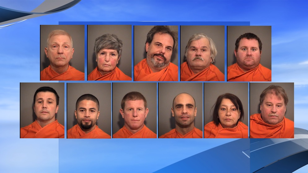Eleven people were arrested on Jan. 2 for illegal gambling after a tip from a caller, according to a police report. (J. Reuben Long Detention Center / WPDE background)<p></p>