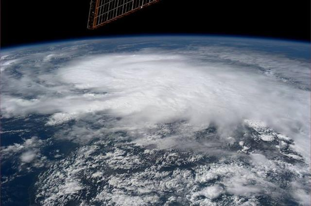 Hurricane Raymond (Photo & Caption: Karen Nyberg, NASA)